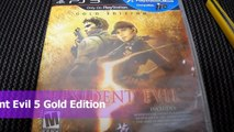 Unboxing Resident Evil 5 Gold Edition PS3 Sony Playstation 3 Capcom Biohazard RE Jill chri