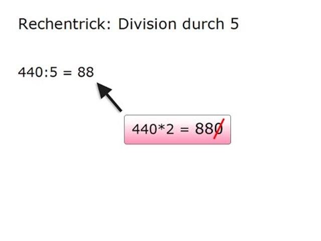 RT01 Die besten Rechentricks: Schnelle Division durch 5
