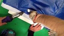 Réparation de structure gonflable en PVC: thermosoudure