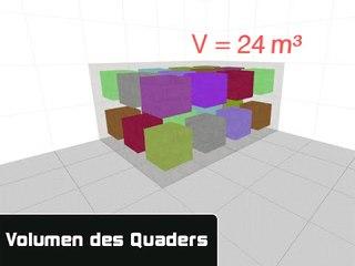 GEO02 Volumen des Quaders berechnen