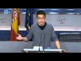 Podemos insiste en que no votará un pacto PSOE-Ciudadanos