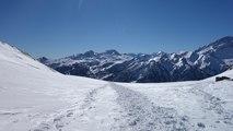 Col de Buffère avec des skis de randonnée