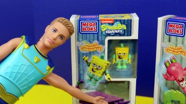 SpongeBob SquarePants Toys Mega Bloks Build Barbie Mermaid Mike The Merman & Patrick DisneyCarToys