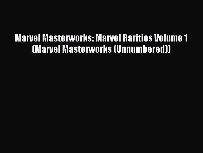 Download Marvel Masterworks: Marvel Rarities Volume 1 (Marvel Masterworks (Unnumbered)) PDF