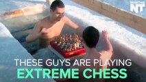 Russian Swimmers Play Chess While Submerged In Ice Water