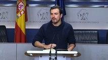 Garzón pide al PSOE un Gobierno de resistencia y que no se deje seducir por liberalismo