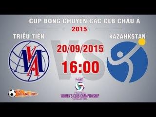 Triều Tiên vs Kazahkstan - XH 5-6 Cúp bóng chuyền châu Á 2015