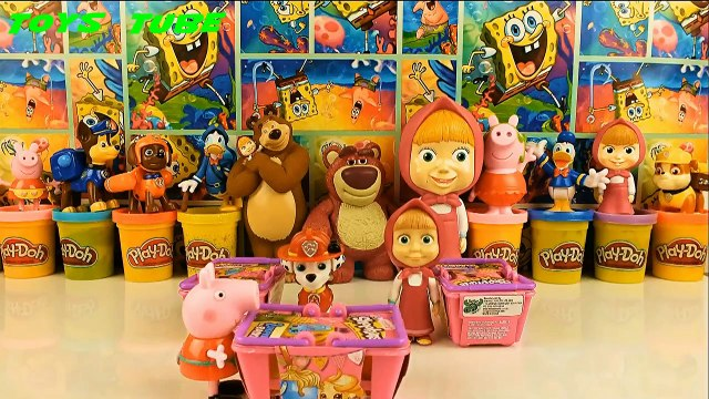Shopkins 3 open Paw Patrol and Peppa Pig Masha i Medved Шопкинс Щенячий Патруль