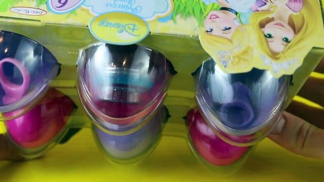 Rapunzel Barbie Opens Disney Princess Tangled and Cinderella Easter Egg Toys Surprise DisneyCarToys