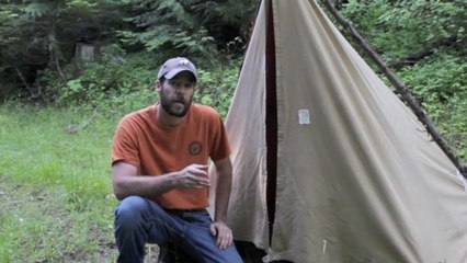 Wilderness Skills: How to Quickly Pitch a Canvas Tarp Tent | Outdoor
