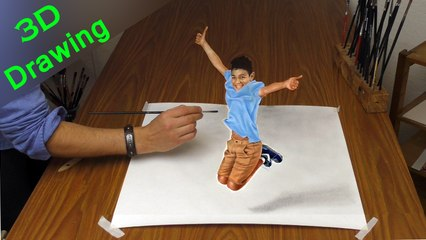 Drawing in 3D / How to paint AMAZING TRICK ART