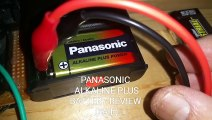 """Panasonic """"Alkaline Plus"""" (Alkaline+) battery review - imo not a true alkaline battery - test shows will not recharge like regular 9V alkaline batteries - do not buy imo -  bad product review - fail - just my 2 cents"""