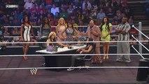 WWE Smackdown 7/12/13 Divas Contract Signing Segment featuring Alicia Fox, Aksana, Layla, Natalya, The Funkadactyls (Naomi and Cameron) & Teddy Long + Kaitlyn slaps Big E and Attacks AJ Lee
