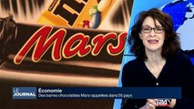 Des barres chocolatées Mars rappelées dans 55 pays