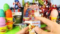 Play Doh Marvel Avengers Surprise Eggs Captain America Iron Man Toys Playdough Disney Cars Toy Club