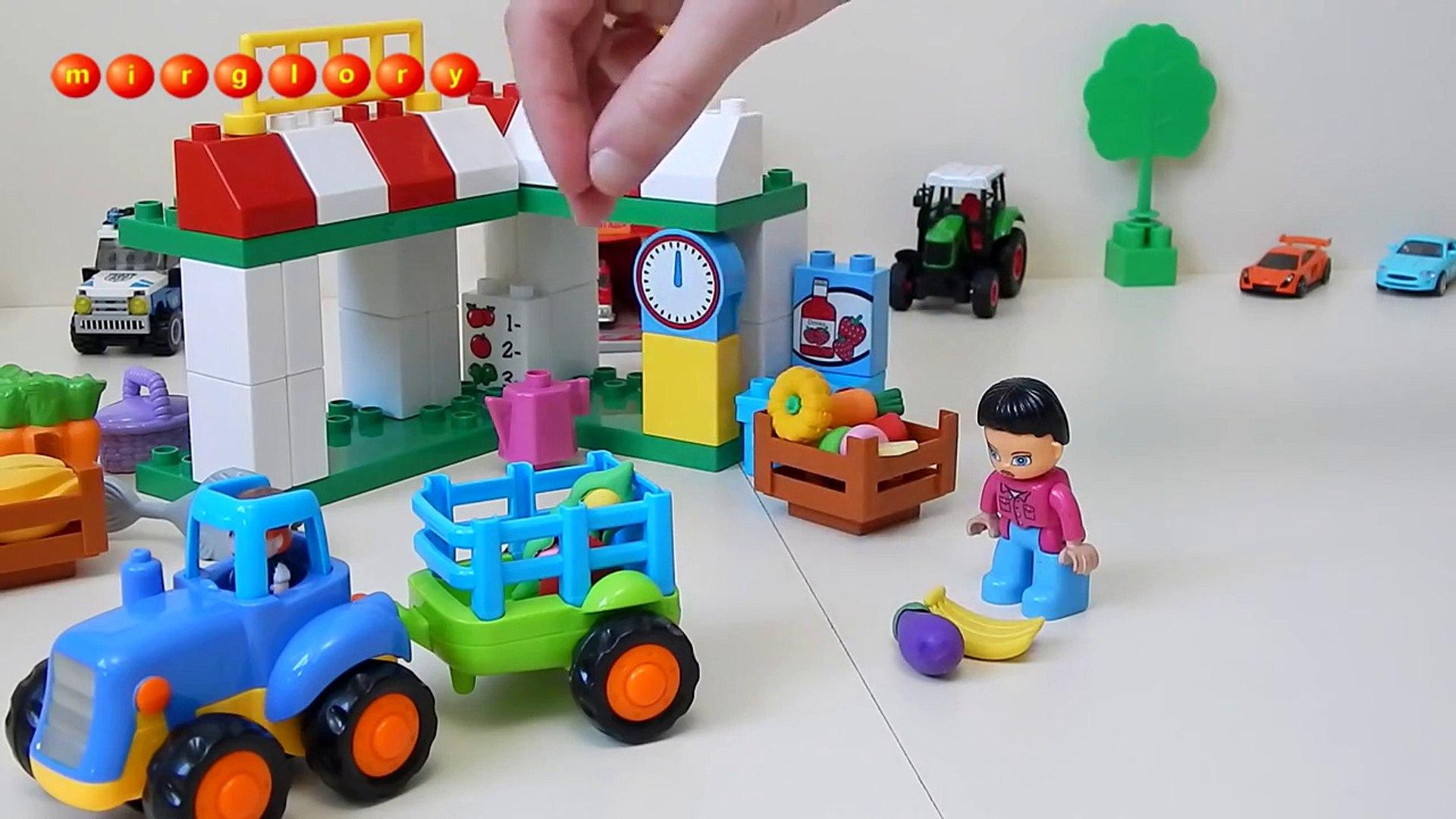 Машинки мультфильм - Учим овощи и фрукты - Город машинок - 51 серия. Развивающие мультики mirglory