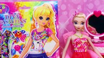 LISA FRANK Toys Paper Dolls Dress-Up Stickers Contest With Dresses, Shoes, Puppy & Kitten