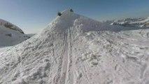 Hélicoptère, lac, tunnels… le skieur Freestyle Candide Thovex vous embarque dans une descente hallucinante