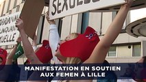 Manifestation en soutien aux Femen à Lille
