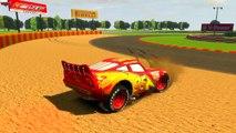 Lightning McQueen VS Chick Hicks Disney cars racing track vairano GP retextured by onegame