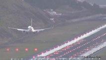Atterrissages terrifiants à l'aéroport de Madère à cause d'un vent puissant