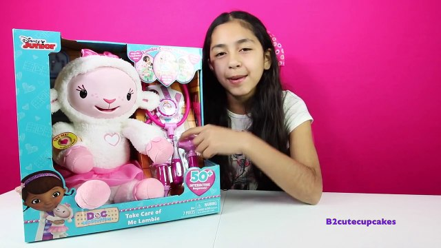 DOC MCSTUFFINS Play Doh Surprise Cake! Take Care of Me Lambie! Talks, Lights Up and Sings!