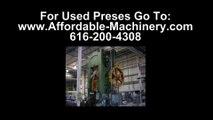 100 Ton Used Bliss Presses For Sale Dealer Serving  Stampers