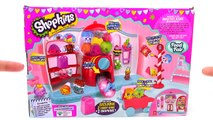 Shopkins Food Fair Sweet Spot Playset Gumball Machine Unboxing Toy Review by TheToyReviewer