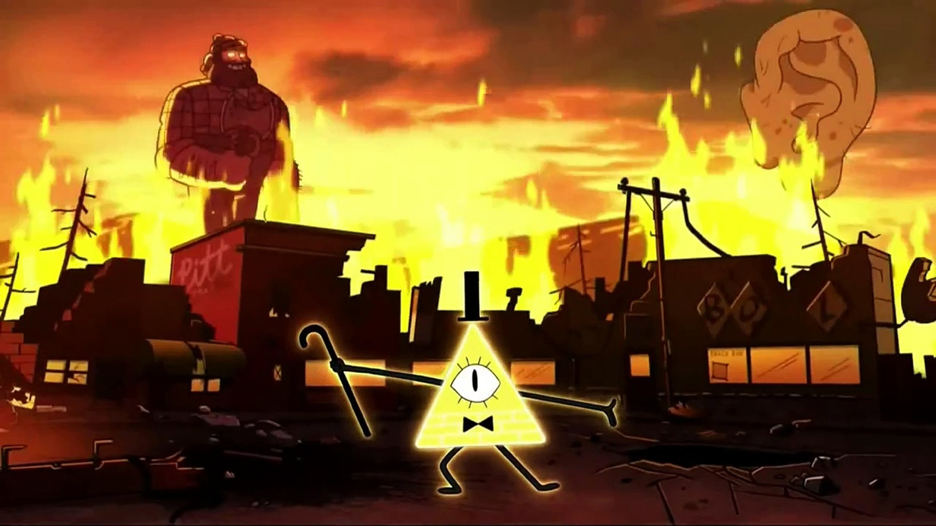 Gravity Falls Weirdmaggedon Bill Cipher Intro Geheimnisse Und Codes Hdde
