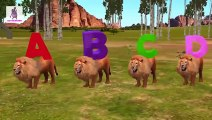 ABC Songs for Children with Wild Animals Cartoons 3D Animation Nursery Rhymes | Alphabets Song