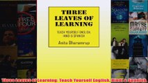 PDF [DOWNLOAD] Three Leaves of Learning: Teach Yourself