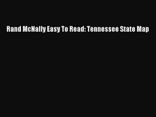 Rand McNally Easy to Read Tennessee State Map