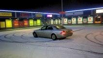 Luxurious Drifting vs Mercedes Benz S Class near Crash Snow Fun Fail