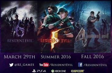 Resident Evil 4, 5, 6 – Announce Trailer