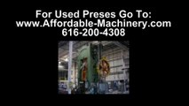 50 Ton Used Bliss Presses For Sale Dealer Serving Wyoming Stampers