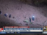 Two hikers rescued from Phoenix mountain
