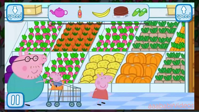 Peppa Pig Grocery Shopping at the Supermarket ✿ Full Gameplay ✿ Best app gameplay episode for kids
