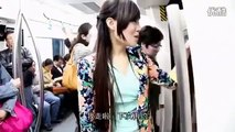 Beautiful girls on the train Funny Asian videos