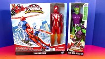 Marvel Ultimate Spider-man Web Warriors Spider-man With Web Copter Green Goblin Superman