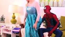 Spiderman, Frozen Elsa & Spiderbaby! Pink Spidergirl, Baby Farts & Joker! Superhero Fun in Real Lif