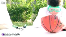 Whats in a Basketball? Science Lab + Toy Surprise Family Fun by HobbyKidsTV