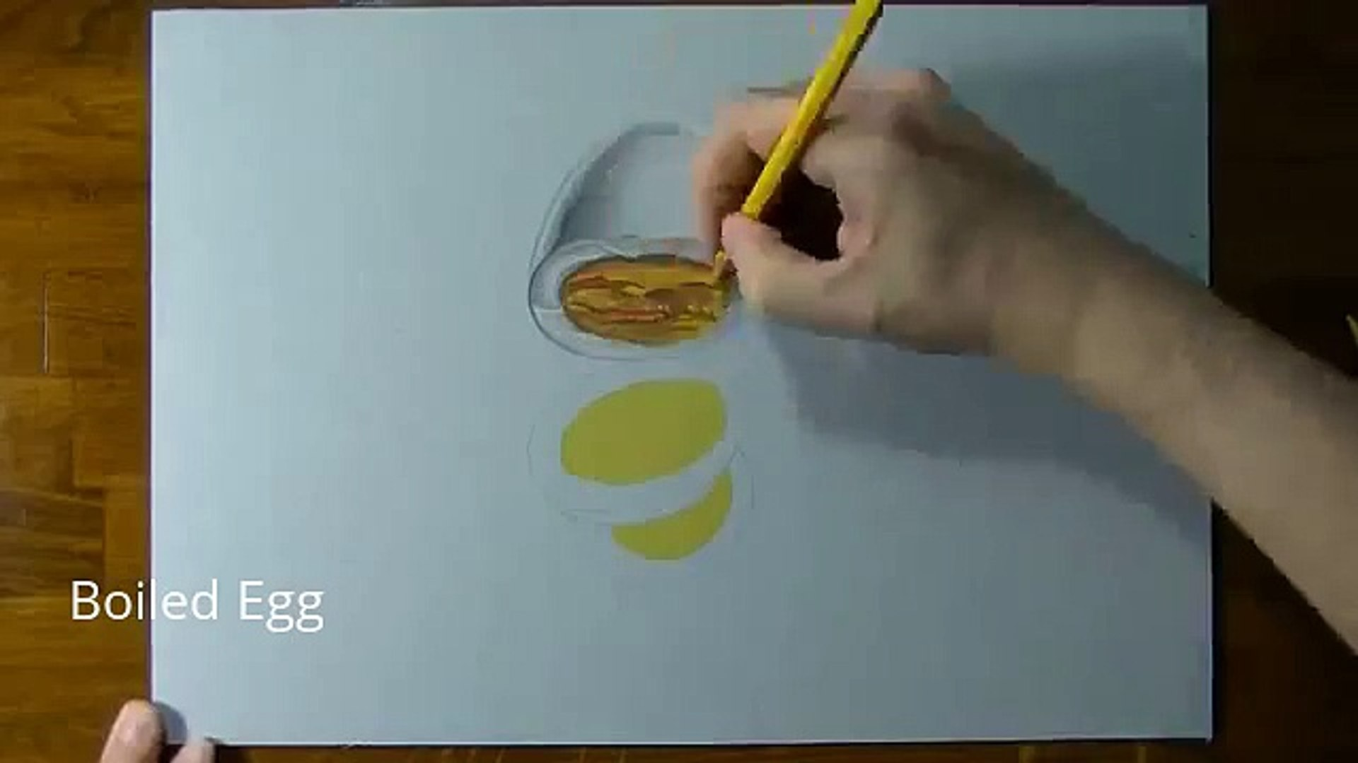 How To Draw a 3D Boiled Egg | Drawing online