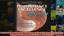 Download PDF  Insights to Performance Excellence 20112012 Understanding the Integrated Management FULL FREE