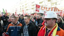 Saint-Saulve : manif cgt metallurgie en soutien à Vallourec