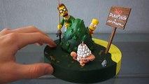 Simpsons Mcfarlane Toy - Bart & Flanders