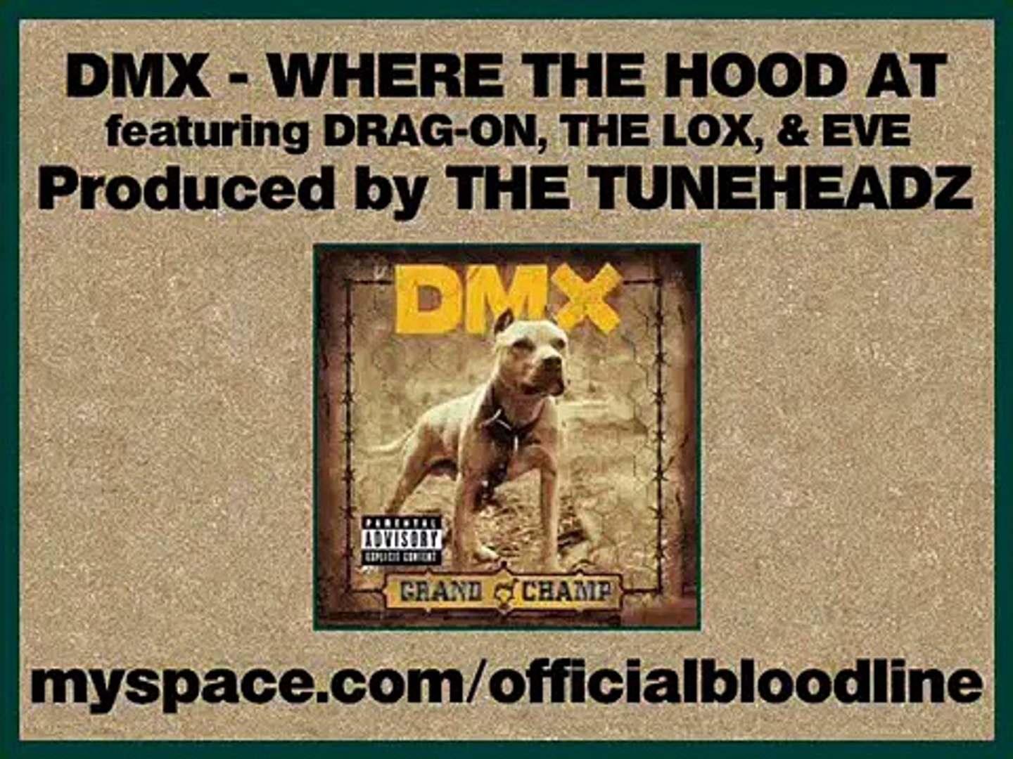 DMX - Where The Hood At (Remix) ft. Drag-On, The LOX, & Eve – Видео  Dailymotion
