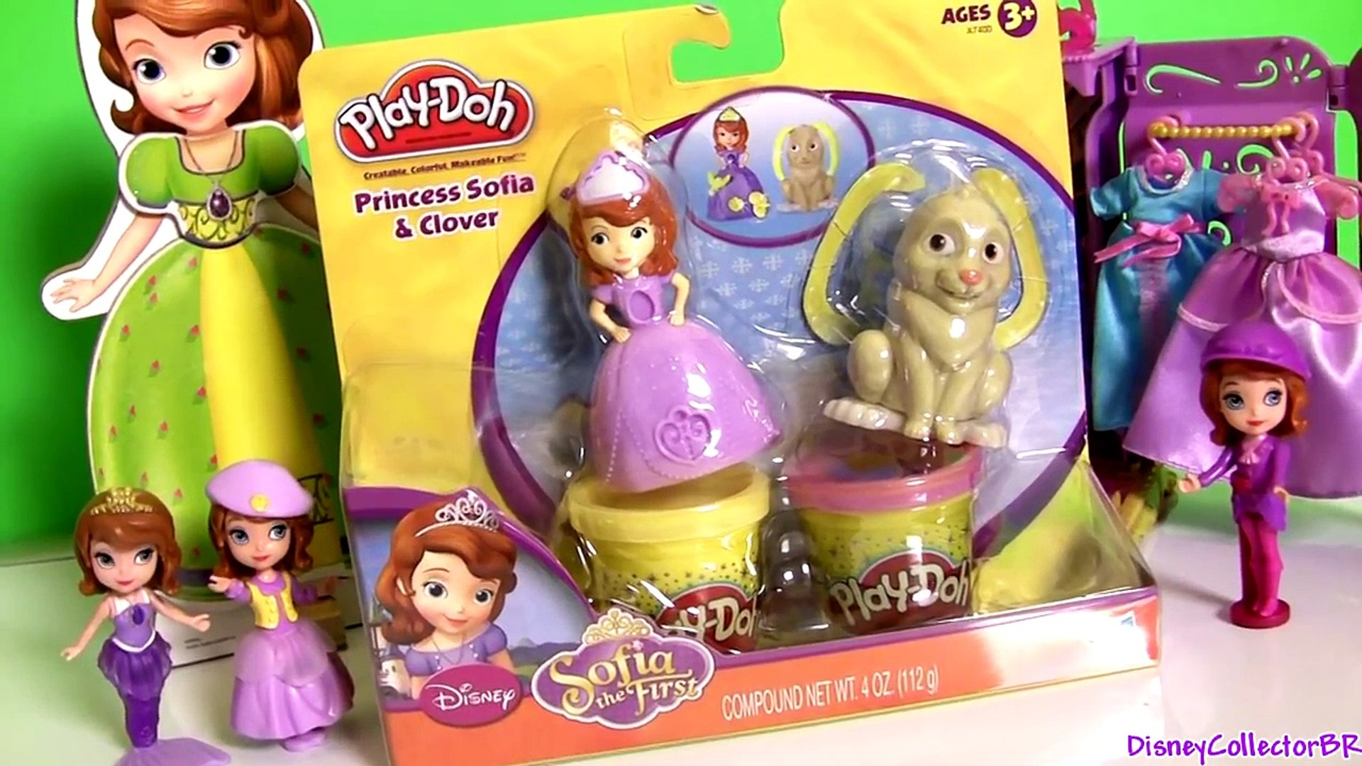 Play Doh Sofia The First Clover The Rabbit Set Disney Princess Sofia Play Dough 소피아먼저 찰흙 놀이