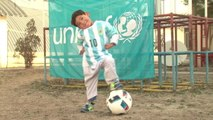 Messi's Afghan Toddler Super Fan Gets Signed Jersey