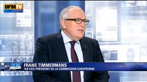 """Frans Timmermans: """"On a un problème avec certains pays de l'Europe de l'Est"""""""