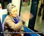 Adepta do FCP diz asneiras no metro